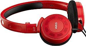 AKG K420LE 头戴式耳机 折叠便携式耳机 重低音手机耳机 红色