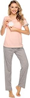 Aibrou 孕妇哺乳睡衣套装,棉质,适合*喂养和*孕期睡衣