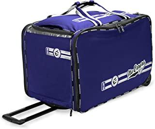 No Errors Ball Boy XL 轮式棒球教练包 - 适用于教练的重型棒球和垒球袋 - 可容纳两个 6 加仑(约 1.7 升)的球桶和教练设备
