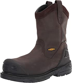 KEEN Utility 男式 CSA 费城惠灵顿高复合材料鞋头防水穿刺套穿工装靴