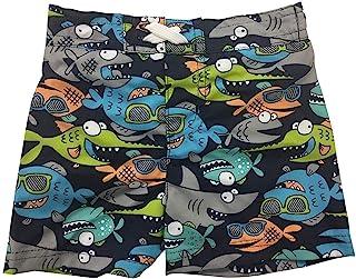 Circo 男婴鱼和鲨鱼趣味渔夫泳帽或沙滩裤泳裤,带网状内衬