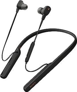 Sony 索尼 WI-1000XM2 行业领先的降噪入耳式耳机,带麦克风,弹性颈圈,10小时电池寿命,快速充电,高分辨率音频,兼容 Alexa - 黑色