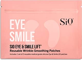 SiO Beauty Eye & Smile Lift | Eye & Smile Anti-Wrinkle Patches 2 Week Supply | Overnight Smoothing Silicone Patches for Wr...