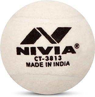 Nivia Heavy Tennis Ball Cricket Ball (Pack of 12)