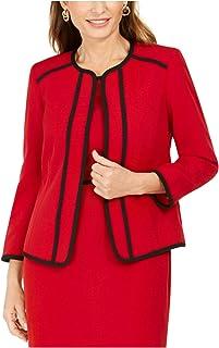 Kasper 女式红色西装工作外套尺码 12P
