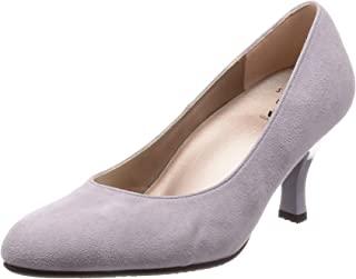[萨克森沃克] 浅口鞋 圆头 鞋跟7cm D~EE 羊皮 WIN370 紫色 23 cm E