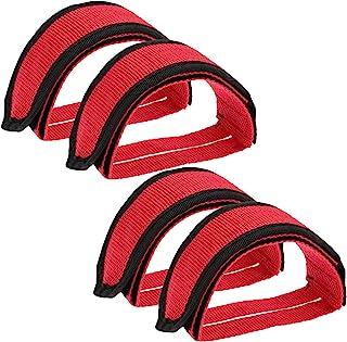 """""""N/A"""" KADBLE 自行车踏板带,脚踏趾夹带,适用于固定装备山地自行车,2 对"""