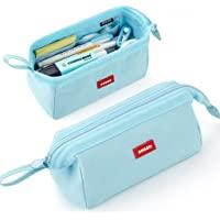 CICIMELON 铅笔盒大容量铅笔袋笔袋适用于学校青少年女孩男孩男女(蓝色)