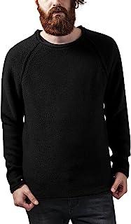 都市经典男式插肩袖宽领毛衣运动衫