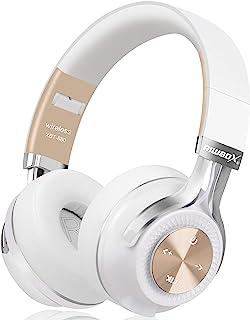 蓝牙耳机,Riwbox XBT-880 无线蓝牙耳机头戴式耳机,带麦克风和音量控制,适用于 iPhone/iPad/PC/Cell 手机/电视的无线和有线可折叠耳机