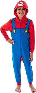 Seven Times Six Super Mario 男童大羊毛服装连帽连体服毛毯睡衣