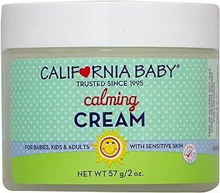California Baby Calming 保湿霜(2 盎司)为柔软、敏感的皮肤   植物基、素食友好型   舒缓因面部、手臂和身体干性皮肤引起的刺激。