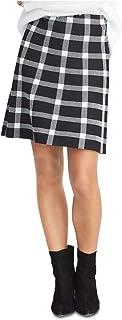 Rachel Rachel Roy Brooks 格子及膝铅笔毛衣裙 黑色