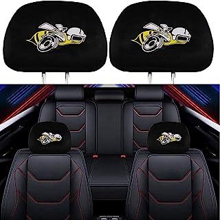 2 件装头枕套 适用于 Dodge Super Bee Charger Challenger ,柔软黑色面料头枕套 通用适合所有汽车/卡车型号(*蜜蜂)