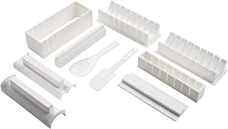 Premier Housewares 806605 寿司制作套件,10 件套 - 白色,高 15 x 宽 21 x 深9 厘米