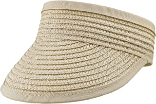 中性儿童草帽遮阳帽 - 男孩女孩可调节草帽(适合 3-7 岁)