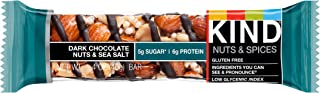 KIND Bars, Dark Chocolate Nuts & Sea Salt, Gluten Free, Low Sugar, 1.4oz, Sample