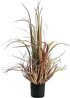QL DESIGN 32 英寸(约 81.3 厘米)人造盆栽植物,曲线人造草植物,适用于办公室/家居装饰