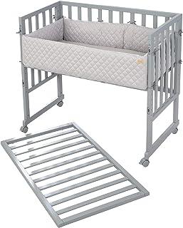 roba,3 合 1 型床架,适用于所有父母高度,包括床垫,护栏和栅栏,灰色