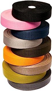 Matador 实用商品 - 轻质聚丙烯织带,1 英寸,10-25-50 码(黑色,2.54 厘米 x 25 码),用于DIY户外装备修理,工艺品,项圈,包,游泳池和游泳池的捆绑