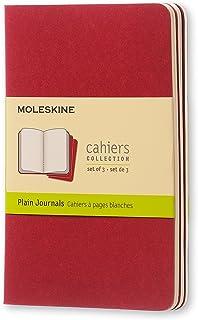 Moleskine Cahiers 红色纯白轻便笔记本(口袋型)