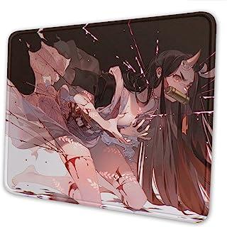 动漫游戏鼠标垫大号防滑橡胶垫适用于电脑台式电脑笔记本电脑办公室大键盘垫 10 x 12 英寸