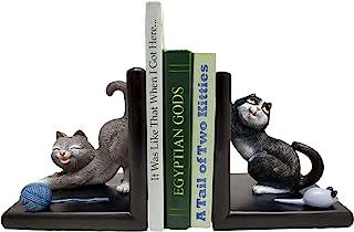World of Wonders - Meow & Forever 系列 - Two Kitties 的故事 - 可收藏的猫咪玩耍家庭办公室书架和图书馆装饰品,5.5 英寸