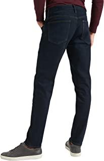 Banana Republic 男式 603395 紧身弹力棉质牛仔裤深蓝色水洗洗