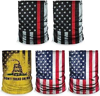 Controller Gear 围脖面具围巾 2 件装 美国制造。 *防尘,运动,钓鱼,徒步旅行,骑自行车,摩托车头巾 - 蓝色条纹/红色条纹 - 非机器特定