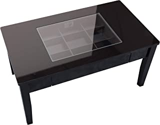 SUN・HARVEST 镜面加工的收藏桌子 【黑色】 黑色 W80×D45×H40cm LT-902 BK