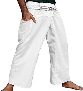 RaanPahMuang 品牌浅条纹棉质高泰渔夫裤裹身裤