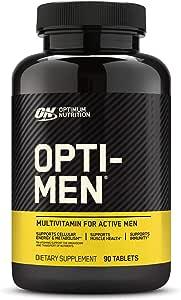 Optimum Nutrition 欧普特蒙 Opti-Men 男士每日复合维生素 补充维生素C,D,E,B12,90片