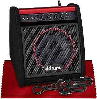 Ddrum DDA50 BT 50 瓦电子打击乐扩音器,带蓝牙、低音炮、高音器、护理套件、线缆等基本配件套装,非常适合鼓手、表演者