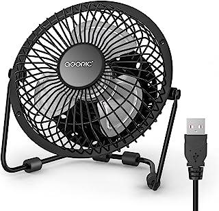 办公桌风扇,USB 风扇带增强气流 6 英寸(约 15.2 厘米)小型书桌风扇,带静音操作便携式迷你台式风扇,适用于办公室/办公桌/卧室/家庭