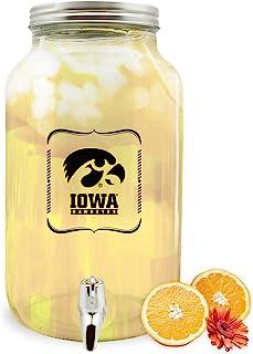 Duck House NCAA 爱荷华鹰眼队玻璃饮料分配器/太阳茶罐,5 升