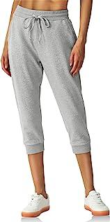 PULI 七分裤 女式慢跑裤 Capri 棉质运动裤 休闲健身运动裤