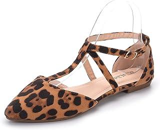 Mila Lady Mavis 时尚新闪耀点缀闪光一脚蹬乐福鞋尖平底鞋