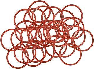 uxcell 硅胶 O 形环,21 毫米外径,18 毫米内径,1.5 毫米宽,VMQ 密封环垫圈,红色,30 个装