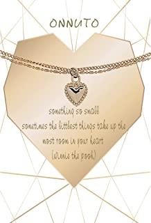 姐姐、Best Friend 珠宝、金链、分层项链和心形吊坠项链 14K 真镀金项链,适合女性*好的朋友生日礼物,适合您生命中的新妈妈,无论是妻子、女朋友、姐妹还是朋友