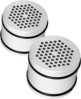 AQUACREST WHR-140 淋浴头滤水器,适用于 Culligan WHR-140、WSH-C125、HSH-C135、ISH-100 淋浴水过滤器单元,采用先进的 KDF 过滤材料(2 件装)