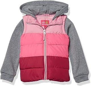 Pink Platinum 女童中量级背心 2fer 夹克