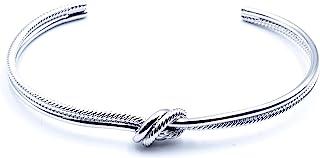 Origin 新款银结手镯 适合女士和女孩,时尚精致,华丽的礼物