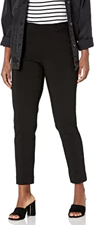 SLIM-SATION 女式套穿纯色及踝裤,带真实前口袋