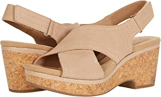 Clarks 女士 Giselle Cove 坡跟凉鞋