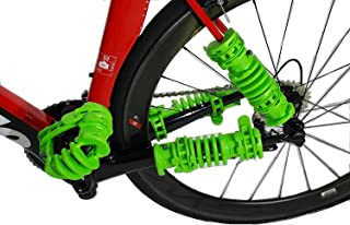 Bopworx 小背带 - 可拆卸自行车旅行保护系统 - 在运输过程中保护自行车框架和踏板 - x 2 件
