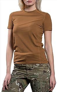 281Z 女式*弹力棉内衣 T 恤 - 战术徒步户外 - 惩罚者战斗线, 棕色(Coyote), X-S
