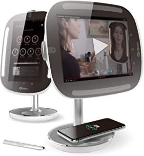 HiMirror Mini Premium X 64GB:智能*镜,带皮肤分析仪,化妆镜带 LED 灯,智能化妆镜,带非固定屏幕和无线充电板