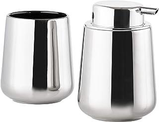 ZONE(ZONE) 肥皂机&平底杯组合 银色 NOVA ONE