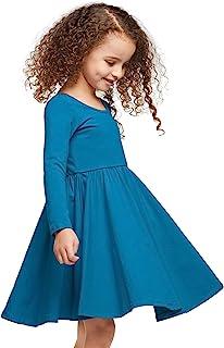 STELLE 女孩棉质褶皱短袖紧身连衣裤,适合舞蹈、体操和芭蕾舞(幼儿/小女孩/大女孩)