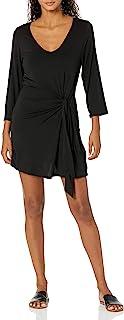 Kenneth Cole New York 女式前系带裹身裙泳衣罩衫